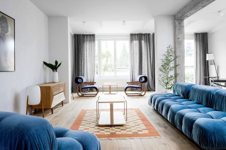 modern look living room buy chairs house tour a 1930s polish home gets