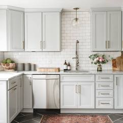 Gray Kitchen Cabinets Butcher Block Tables 21 Ways To Style With Subway Tile And Light Cabinet