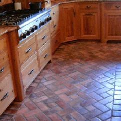 Brick Floor Kitchen Stationary Islands Kitchens With Red Floors Appliances Tips And Review Richmond Flooring Tiles