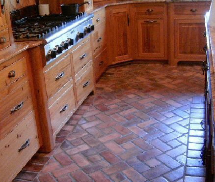 brick floor kitchen www.kitchen cabinets kitchens with red floors appliances tips and review richmond flooring tiles