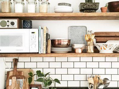 kitchen shelf ideas cost to redo 10 beautiful open shelving stylish ways display cookbooks in the