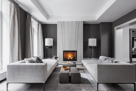 design small living room with fireplace how to layout a narrow 21 modern ideas contemporary black and gray