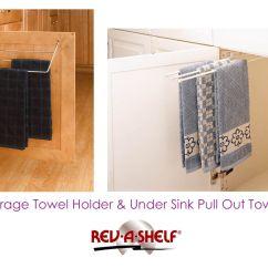 Kitchen Towel Bar New Appliances Creative Options For Hanging Towels Hidden Bars