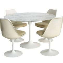Tulip Table And Chairs Sectional Chair Covers For Sale How To Identify A Genuine Saarinen Vintage Eero Pedestal Collection Knoll International