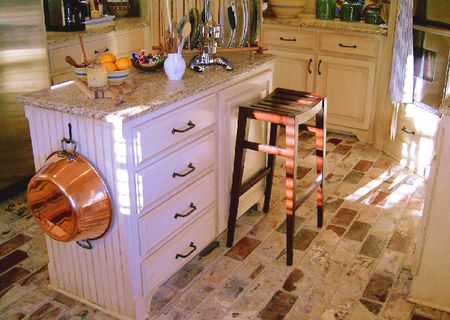 brick floor kitchen booths for home how to clean a flooring installations
