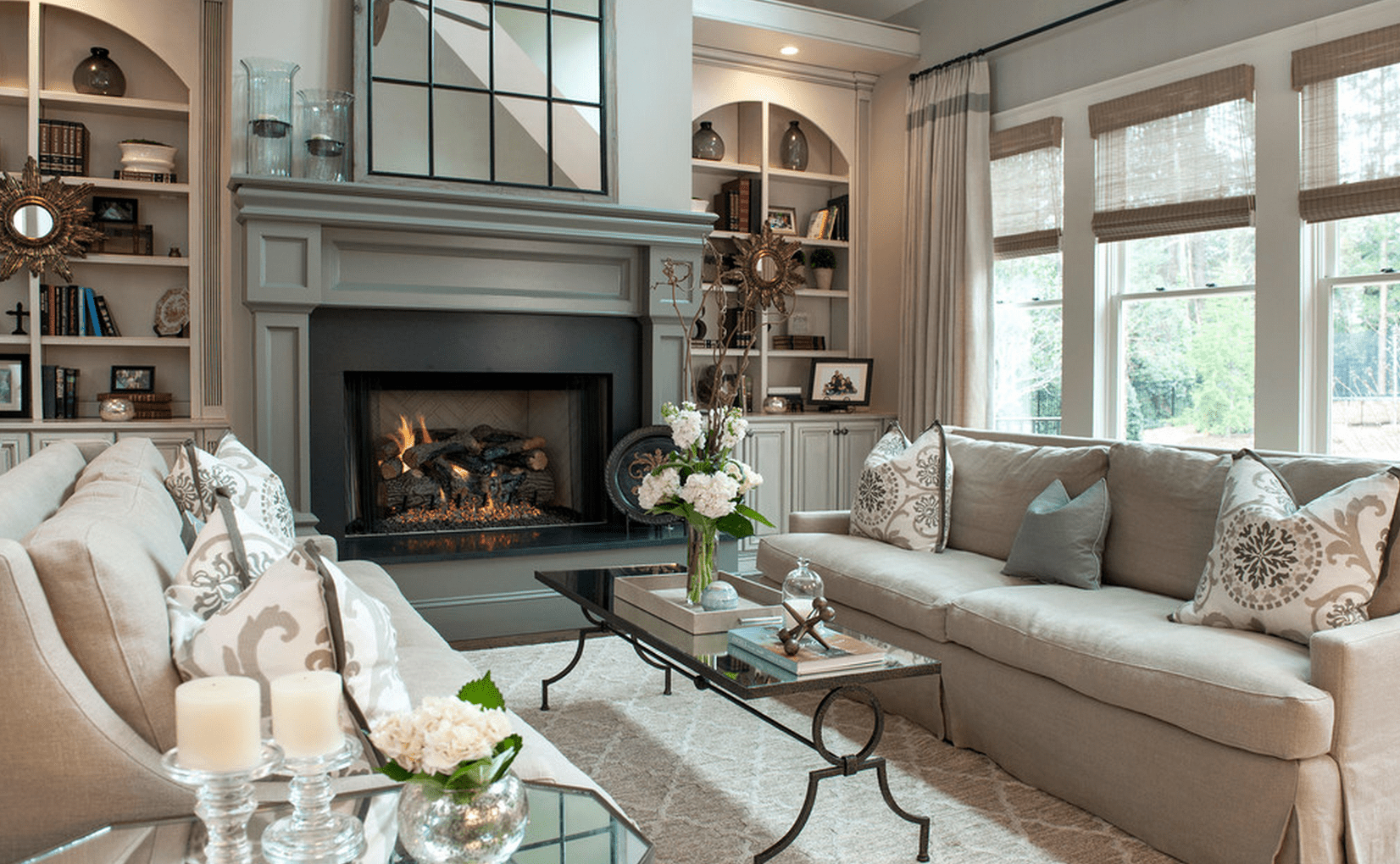 how to design living room with fireplace and tv screen 20 beautiful rooms fireplaces