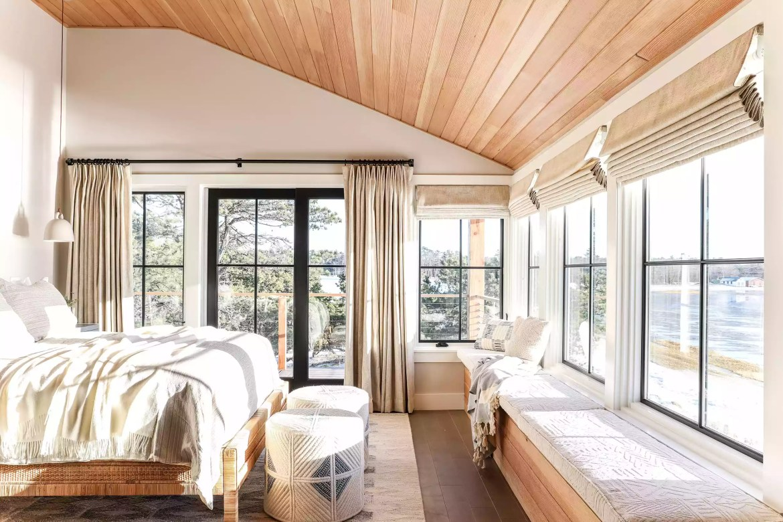 Rustic, organized bedroom