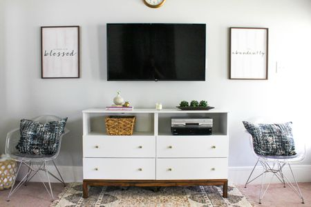 tv stand living room color ideas dark furniture 2 7 ways to make your own hide ugly cable boxes and wires diy ikea hack dresser