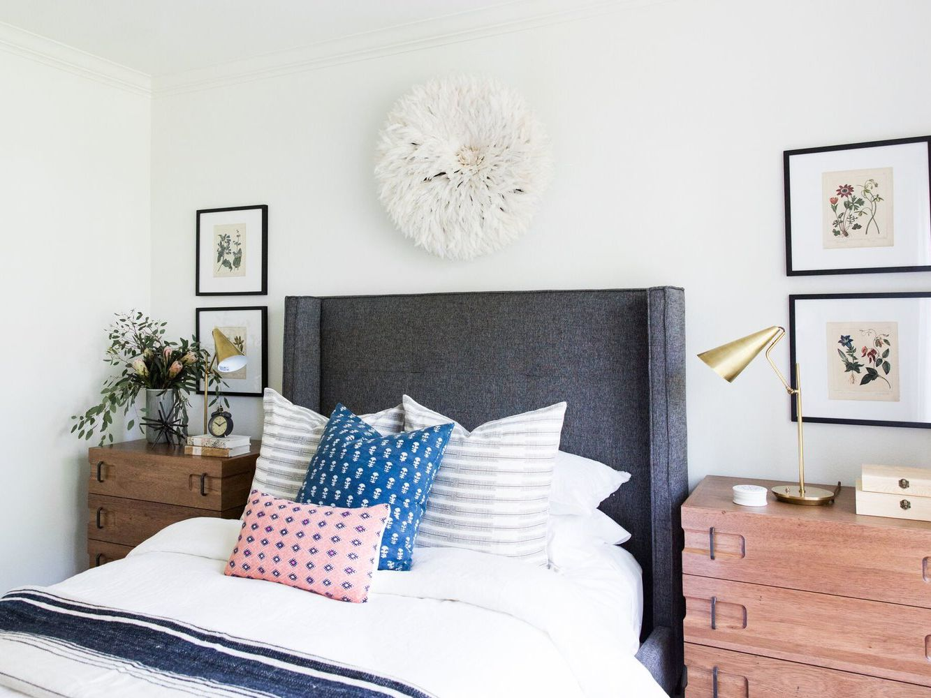 13 Stylish Bedrooms With Chic Upholstered Headboards