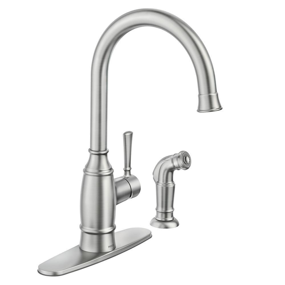 moen kitchen faucets buy cabinet doors the best of 2019 noell single handle standard faucet
