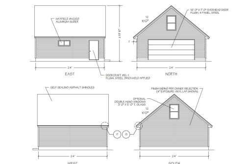 small resolution of a diagram of four sides of a garage