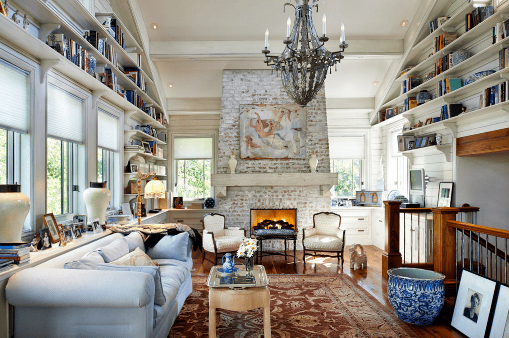 formal living room with brick fireplace ideas for furniture 20 beautiful rooms fireplaces