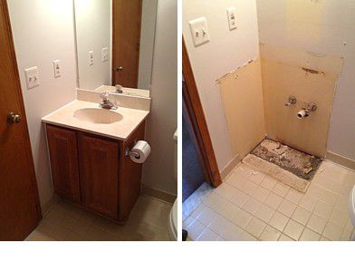 How to Remove a Bathroom Vanity Cabinet