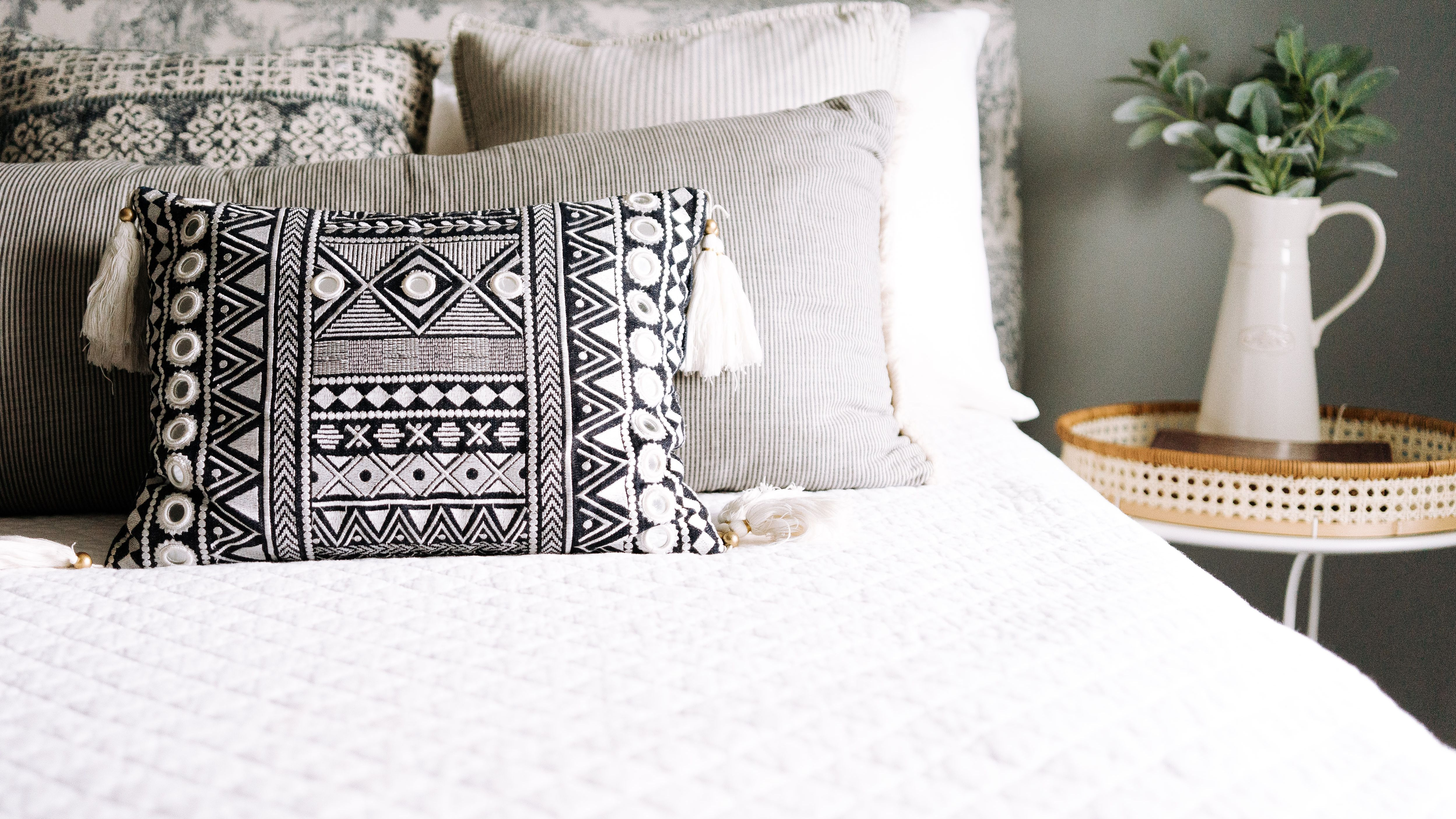 what to do with throw pillows at night