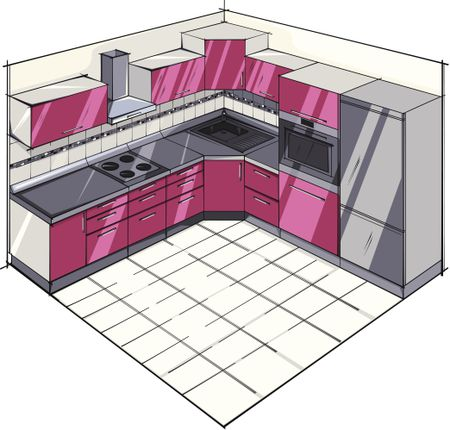 kitchen plans outlets l shaped layouts basic plan