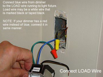 wiring a light fixture diagram switch how to install an electronic dimmer connect load wire
