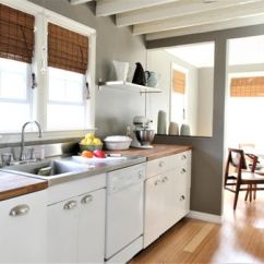 Kitchen Laminate Hanging Lights Thermofoil Cabinets Basics And Buying Guide With White Open Beam Ceiling