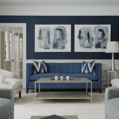 Blue Living Room With Dark Furniture Painting Ideas Images