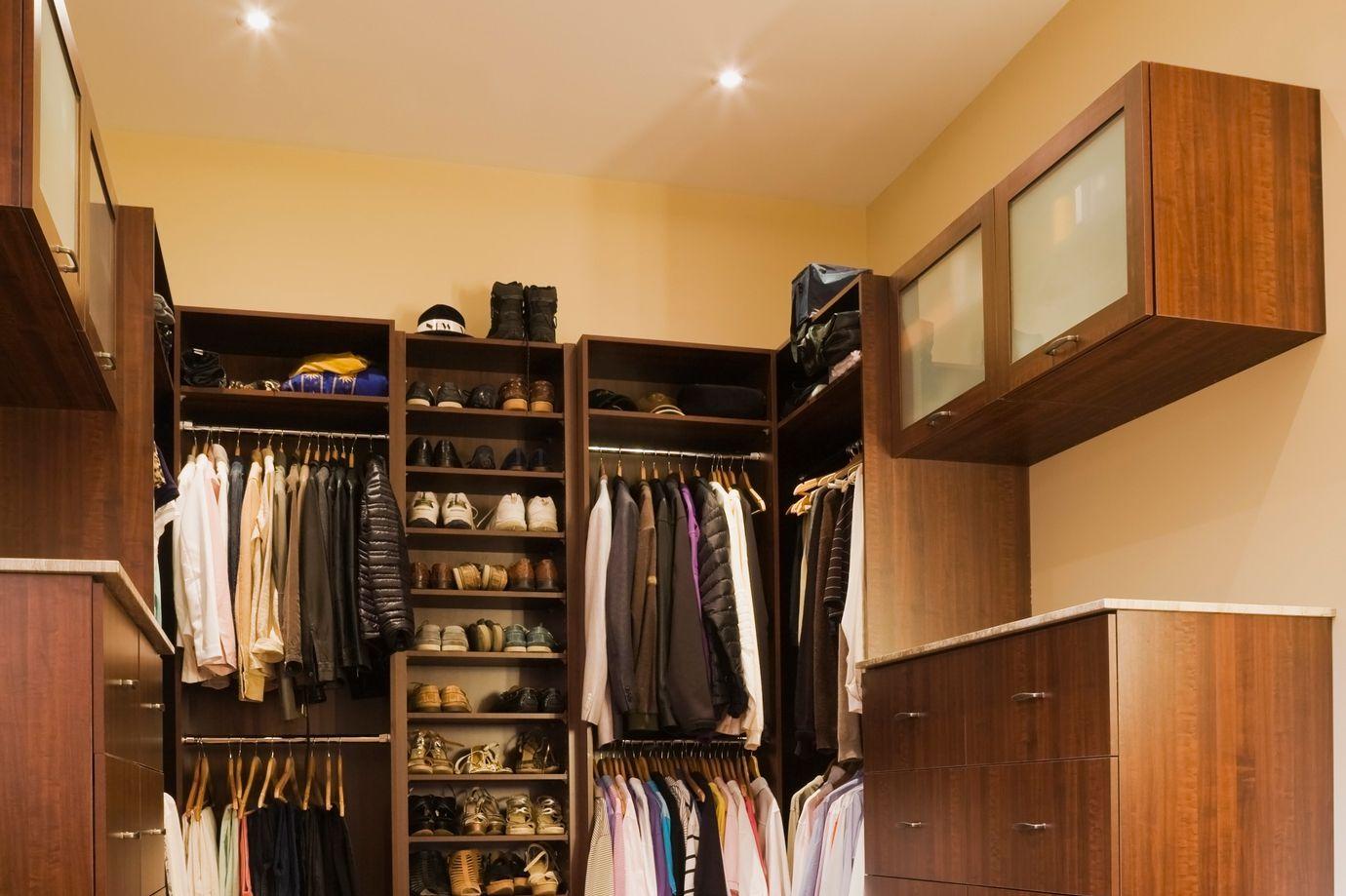 light fixtures in closets