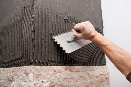 v notch or square notch tile trowel