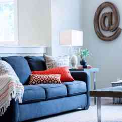 Blue Fl Sofa Dark Grey Walls How To Choose The Right Color