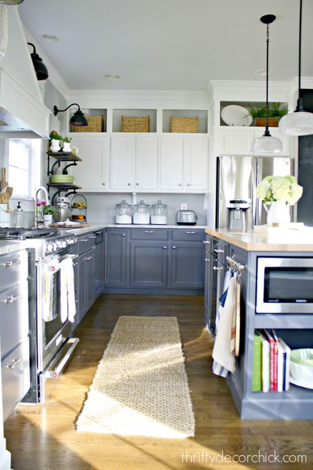 how to decorate your kitchen appliance cabinet 10 ways above cabinets thrifty decor chick