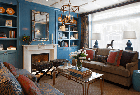 blue living room furniture decorating ideas end table eclectic
