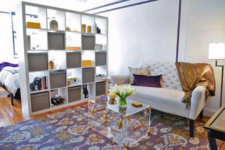 living room space big mirror ideas for 25 ways to create a bedroom in studio apartment divide without blocking sunlight