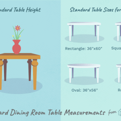 Kitchen Table Sizes Flat Front Cabinets Standard Dining Measurements Height