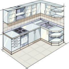 Kitchen Plans 2 Seat Table L Shaped Layouts Plan For Modern