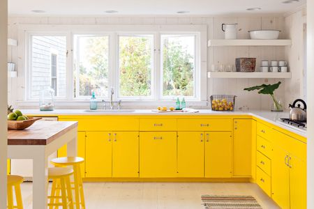 kitchen paints freestanding island 26 paint colors ideas you can easily copy yellow modern farmhouse