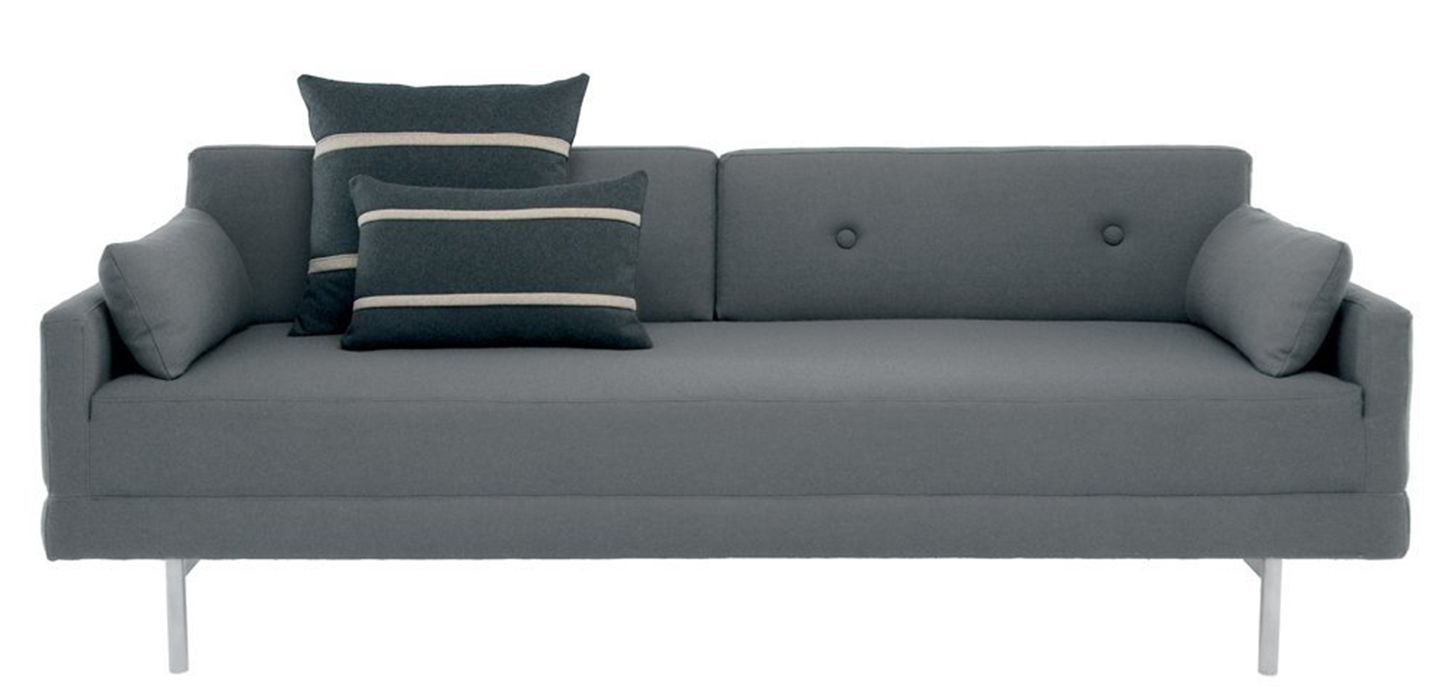sofas for small es linen chesterfield sofa nz slim sleeper apartments and spaces blu dot s one night stand