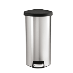 Simplehuman Kitchen Trash Can Vintage Cabinets For Sale The 9 Best Cans To Buy In 2019 Round Step Stainless Steel