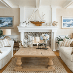 Beach Theme Decorating Ideas For Living Rooms Log Home Room 20 Beautiful House Style