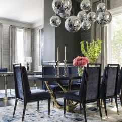 Modern Gray Dining Chairs How To Make A Chair Mat 25 Room Design Ideas With Lighting