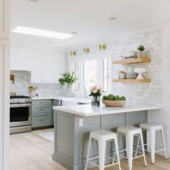 Grey Kitchen Cabinets Refinishing 21 Ways To Style Gray With White And
