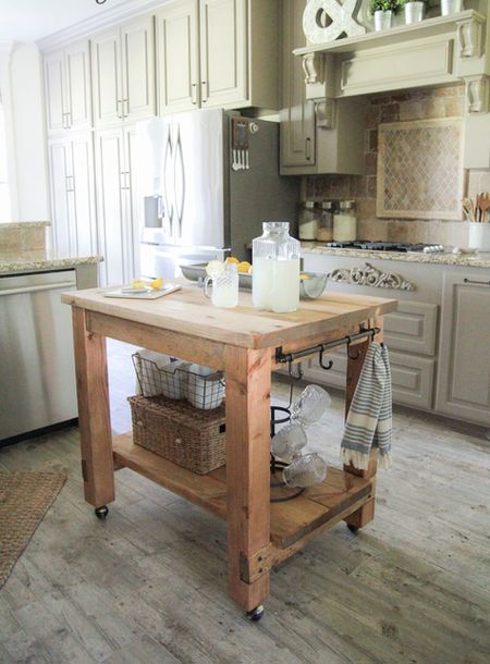 small kitchen island tuscan wall clocks 15 ideas rustic diy for kitchens