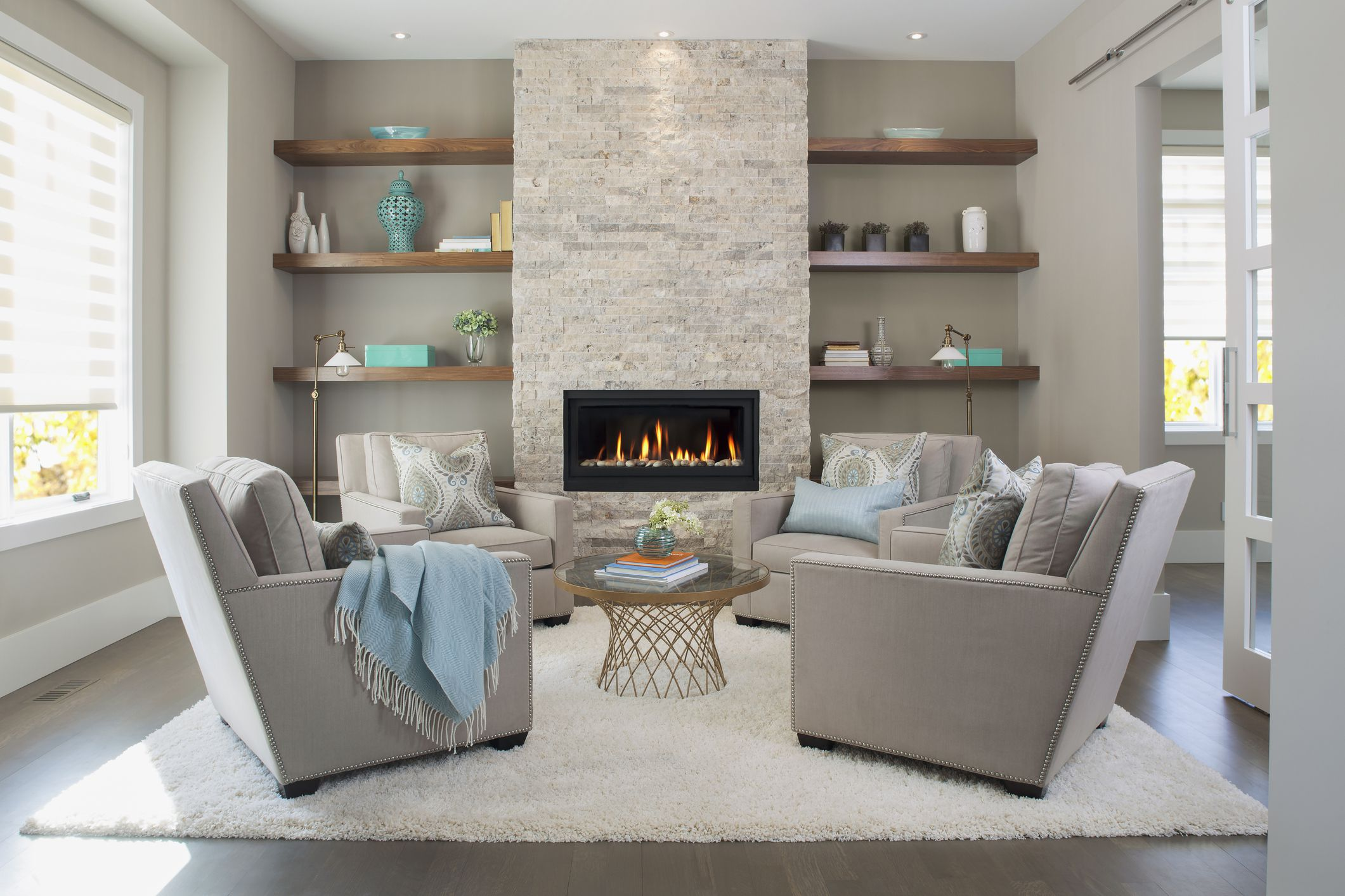 how to arrange living room furniture with fireplace and tv coffee end tables find a focal point in