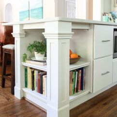 Kitchen Bookshelf Pink Rug 10 Stylish Cookbook Display And Storage Ideas Build A On The End Of Peninsula