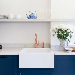 Blue Kitchen Sink Pantry Cabinets Freestanding Beautiful Design Ideas