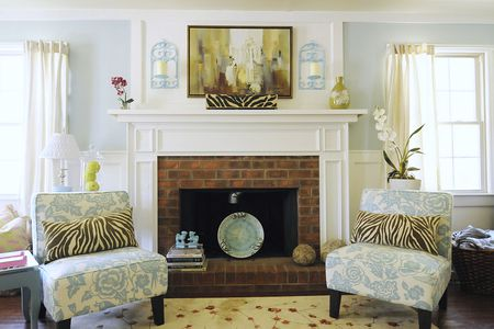 cheap living room decor pictures of small rooms with fireplaces 32 ways to refresh a brick fireplace pastel traditional