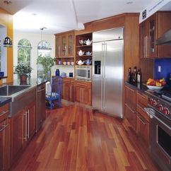 Wood Floors In Kitchen Yellow Pine Cabinets Benefits And Drawbacks Of A Hardwood Floor Modern Contemporary Hi Tech