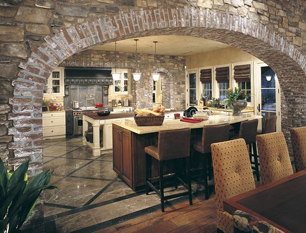 tuscan style kitchen plans