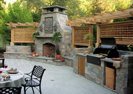 outdoor kitchen oven free 3d design software 50 enviable kitchens for every yard and fireplace