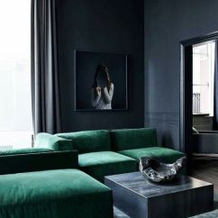 Color Schemes For Living Room With Green Sofa Wall Prints Perth 14 Gorgeous Rooms Classic Palettes Black Sofas