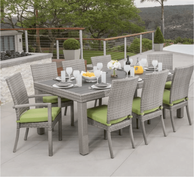 best outdoor dining chairs blue wing chair 9 patio sets for 2019 alfonso piece set with cushion