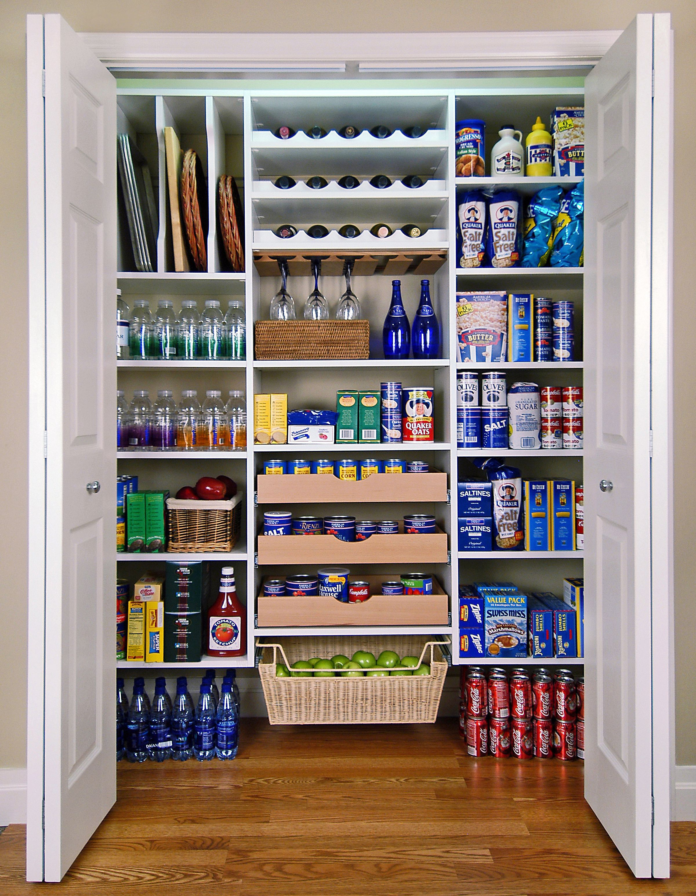 pantry for kitchen unfinished wood cabinets organize your with simple and inexpensive ideas