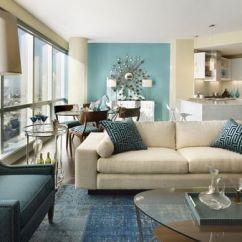 Blue Modern Living Room Rentals Ideas And White Condo