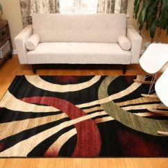 Rugs In Living Room Black And Red Furniture How To Use An Area Rug New City Contemporary