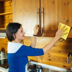 Cleaning Kitchen Cabinets Small Tables And Chairs Tips For Food Grease From Wood
